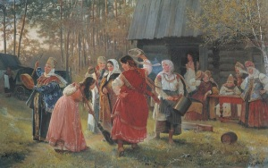 Девичник.1889 г. Художник Алексей Корзухин